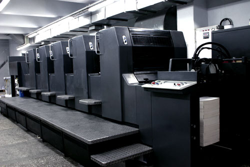 Commercial printing press.