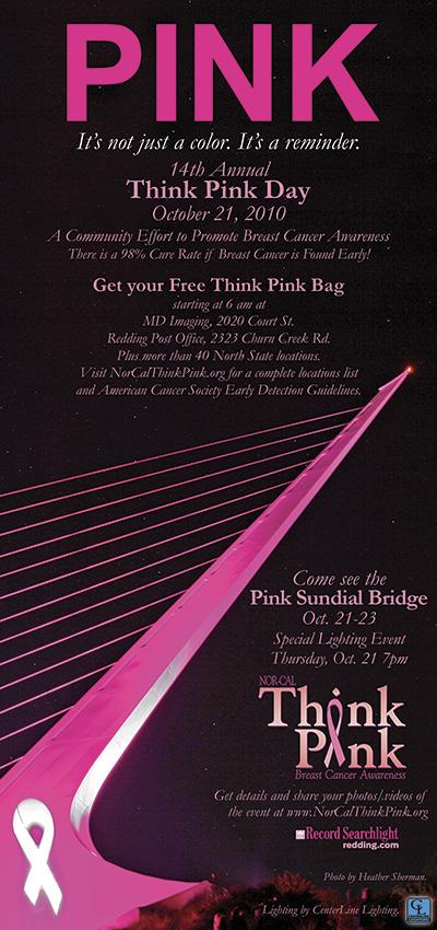 Pink Sundial Bridge Ad